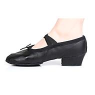 Dansesko(Sort Rød) -Kan tilpasses-Kraftige Hæle-Damer-Ballet