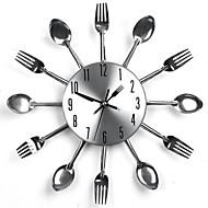 Moderno/Contemporâneo Relógio de parede,Redonda Metal Interior Relógio