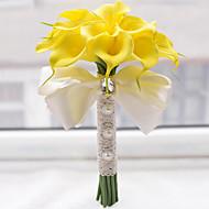 Bryllupsblomster Rund Roser Liljer Buketter Bryllup Polyester Sateng Perle Skum 8.27 tommer (ca. 21cm)