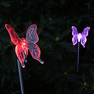 חבילה של 2 אור אחזקת גן פרפר הצבע משתנה שמש