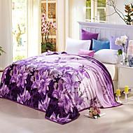 Knuffelfleece Meerkleurig Flora / Botanisch 100% Polyester dekens 120x200cm ,150x200cm, 180x200cm , 200x230cm