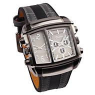 Персональный подарок - Муж. - Часы - С двумя часовыми поясами / Электролюминесцентные - Натуральная кожа - Группа
