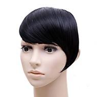 haute température perruque de soie noire perruque incliné Bang Bang Vente en gros