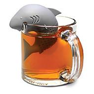 Infusor de chá de tubarão de silicone filtro de chá de folha solta filtro de especiarias ervas