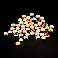 100kpl värikäs helmi metallinen reuna kynsikoristeet koristeet