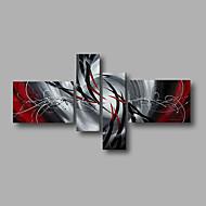 Ручная роспись Абстракция Любые формы,Modern 4 панели Холст Hang-роспись маслом For Украшение дома
