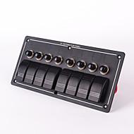 iztoss 8 Bande Aluminium-LED-Wippe& Leistungsschalter wasserdicht rv LKW Auto-Aus-Schalter Bedienfeld