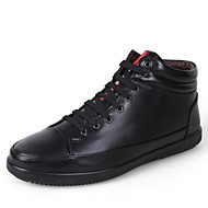 Herren-Sneaker-Lässig-Leder-Flacher Absatz-Komfort-