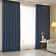 Dvije zavjese Prozor Liječenje Moderna , Jednobojni Bedroom Posteljina / pamuk Blend Materijal Zavjese Zavjese Početna Dekoracija For