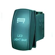 iztoss 5pin Laser LED-Lichtleiste Kippschalter on-off LED-Licht 20a 12v Blau mit Drähten zu installieren