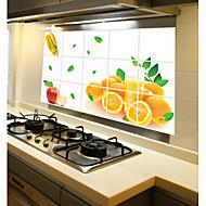 מטבח נשלף oilproof מדבקות קיר עם מדבקות אמנות בבית עמיד במים בסגנון פרי כתום