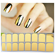 3D Nail Stickers-PVC-Abstrakti-Sormi / Varvas-14tips stickers-1pcs full cover adhesive nail sticker