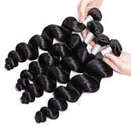Tissages de cheveux humains Cheveux Brésiliens Ondulation Lâche 4 Pièces tissages de cheveux