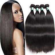 """4 pcs / lote 8 """"-30"""" 100g / pedaço cabelo 100% brasileiro reto do cabelo virgem brasileiro teje"""
