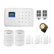 gsm sistema de alarme sem fio G18 táctil TFT alarmas porta de exibição pir para casa de segurança inteligente android app