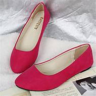 Calçados Femininos-Sapatilhas-Conforto-Rasteiro-Preto / Azul / Amarelo / Verde / Rosa / Roxo / Vermelho / Branco / Cinza / Taupe /