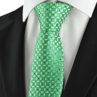 עניבה-משובץ (רשת)(ירוק,פוליאסטר)