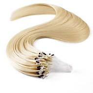 neitsi 100 % 인간의 머리 확장 마이크로 링 머리 20 인치 25 가닥 루프