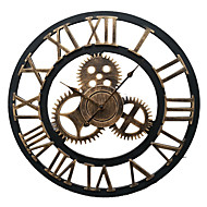 בסגנון אירופאי שעון קיר וינטג ברזל אילם (צבע ברונזה)