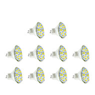 3w gu4 (mr11) projecteur led mr11 12 smd 5730 250 lm chaud / froid blanc dc12v 10 pcs
