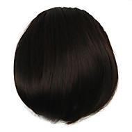 perruque couleur chocolat 7cm fil à haute température de couleur frange obliques 2/33