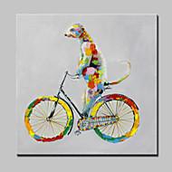 יד גדול תמונות קנבס כלב חיה מופשטות מודרניות ציור שמן צבוע עם מסגרת מתוח מוכנה לתלות