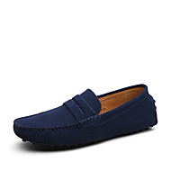 Masculino sapatos Couro Camurça Solados com Luzes Sapatos formais Mocassins e Slip-Ons Para Casual Azul Marinho Verde Khaki Azul Real