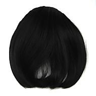 perruque noire 8cm oblique de fil à haute température bangs couleur 4