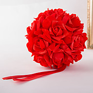 Bryllupsblomster Rund Friform Roser Dekorasjoner Bryllup Fest & Aften Elastisk Sateng 5.91 tommer (ca. 15cm)