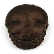 chignons castanhos encaracolados europa noiva cabelo humano sem tampa perucas excêntricas SP-159 2009
