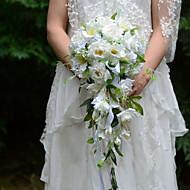 Bryllupsblomster Friform Kaskade Roser Buketter Bryllup Fest & Aften Sateng Silke