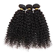 Cabelo de cor natural tece textura peruana curvilínea curvilínea 6 meses 3 pedaços de cabelo tilham