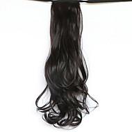noir longueur 50cm le nouveau type de ceinture de longs cheveux bouclés de prêle faux queue de cheval (couleur 99j)