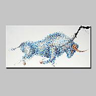 מצויר ביד בעלי חיים מאוזן,מודרני פנל אחד בד ציור שמן צבוע-Hang For קישוט הבית