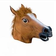 cabeça cabeça de cavalo completa máscara máscara de pele assustador mane látex realista borracha louco super festa assustador máscara do