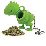 1pcs silicone forma de dinossauro chá infuser coador de folhas soltas ervas silicone difusor filtro