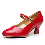 Dansesko(Sort Rød Sølv Guld) -Kan ikke tilpasses-Cubanske hæle-Damer-Moderne
