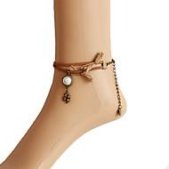 女性 アンクレット/ブレスレット 真珠 合金 ファッション Brown 婦人向け ジュエリー 日常 カジュアル 1個