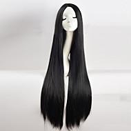 Γυναικείο Συνθετικές Περούκες Χωρίς κάλυμμα Μακρύ Ίσια Κατσαρά Ίσια Μαύρο Στη μέση Περούκα άνιμε φορεσιά περούκες