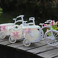Fleurs artificielles vélo tricycle en plastique fleur panier flotteur décoration familiale livraison aléatoire