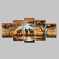 Pintados à mão Abstrato Qualquer Forma,Tradicional 5 Painéis Pintura a Óleo For Decoração para casa