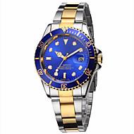 Pánské Módní hodinky Náramkové hodinky Křemenný Kalendář Svítící Nerez Kapela Běžné nošení Luxusní Stříbro