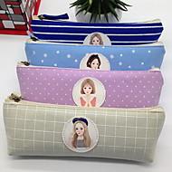 Etelä-Korean paperitavarat kolmion penaali canvas meikkipussi säilytyskassi naisten