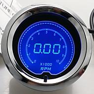 """2 """"(52mm) lcd cyfrowa 7 kolorowy wyświetlacz obrotomierz rpm manometr / auto gauge"""