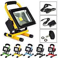10 Luz Portátil 600-900 lm Branco Quente / Branco Frio LED Integrado Recarregável / Impermeável AC 100-240 V 1 Pças.