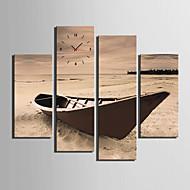 Moderni/nykyaikainen Muuta Seinäkello,Suorakulma Kanvas 30x 60cm(12inchx24inch)x2pcs+03 x 90cm(12inchx35inch)x2pcs Sisällä Kello