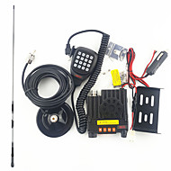 mini bilradio intercom uv dual band dual display 25W høj effekt DC forsyning hold self kørsel tour 1 sæt