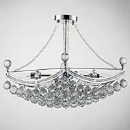 Riipus valot ,  Moderni Galvanoitu Ominaisuus for Kristalli Metalli Living Room Makuuhuone Ruokailuhuone