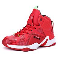 Masculino-Tênis-Conforto-Rasteiro-Vermelho Prateado Dourado Preto e Vermelho-Couro-Ar-Livre Casual Para Esporte
