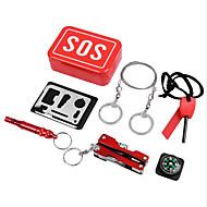 Kit de Sobrevivência Trilha / Campismo / Viagem / Exterior / Ciclismo Multifunção / Conveniência liga de alumínio / aço inoxidável